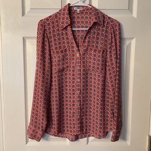 Express Portofino Blouse Pink Small